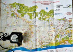 карта зимнего эктрим-похода, Красноярск