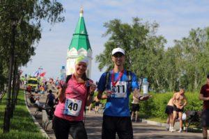 Финиш забега Красноярская часовня