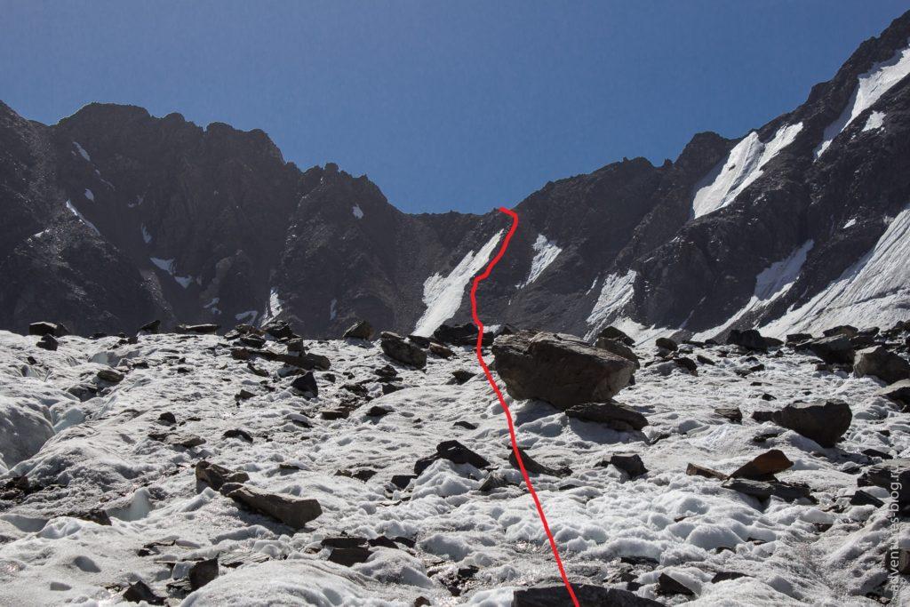 Путь подъема в перевал Нижний Шавлинский
