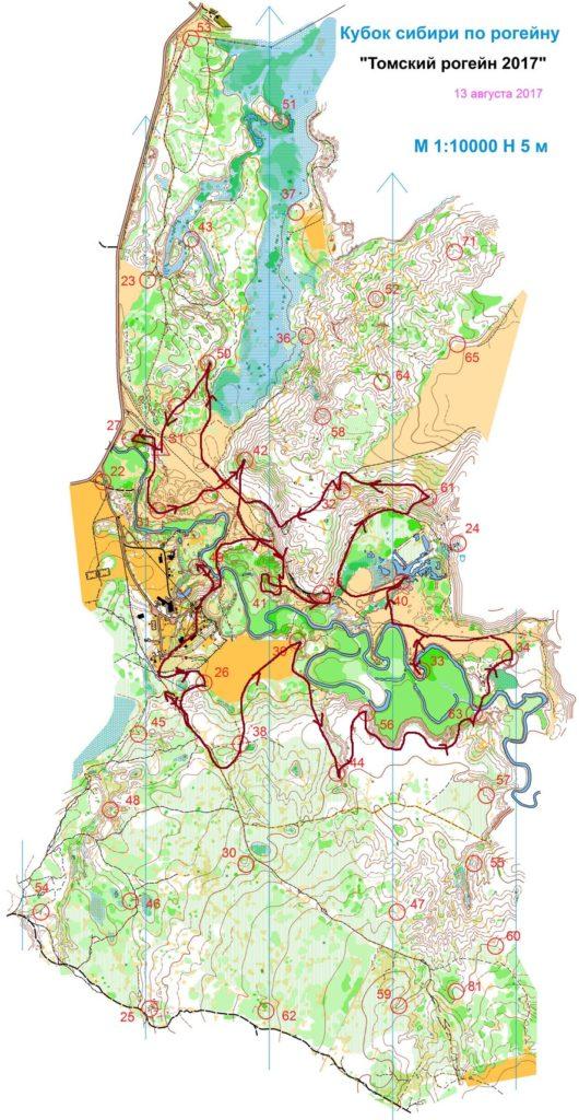 Карта, Томский лесной рогейн